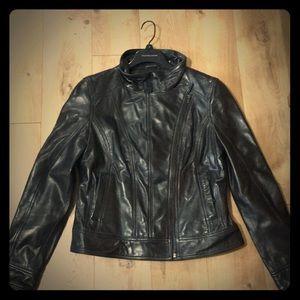 Wilson's leather black rivet Moto jacket